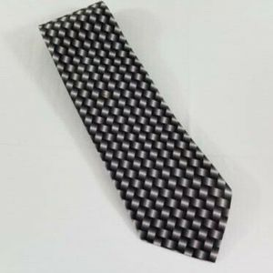 CLERICCI MENS  HANDMADE HOUNDSTOOTH  TIE